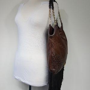 6e49c49f42 Jimmy Choo Bags - Jimmy Choo Tatum Lambskin Snakeskin Fringe Bag